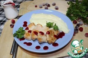 Рецепт Индейка с клюквенным соусом и картофельным пюре