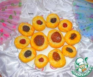 Рецепт Творожное печенье с сухофруктами