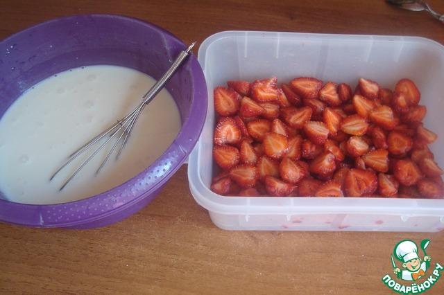 рецепт десерт замороженная клубника povarenok