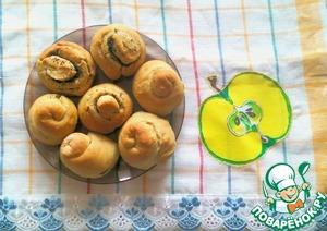 Рецепт Булочки овсяно-пшеничные с маком и корицей