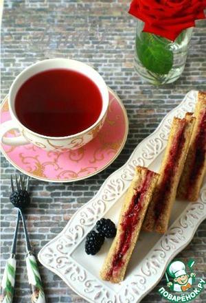 Рецепт Запеченый бутерброд с ежевикой