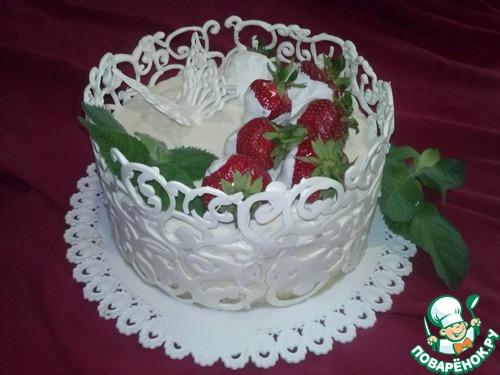 как украсить бока торта кремом фото