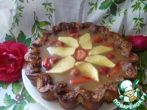 """Рецепт Творожный пирог с яблочным желе """"Радость диабетика"""""""