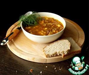 Готовим Чечевичный суп с беконом вкусный рецепт с фотографиями