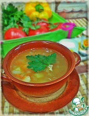 Рецепт Простой гороховый суп с курицей