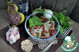 Рецепт Простейший салат из фасоли