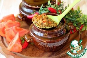 Рецепт Овощное рагу с машем, запеченное в горшочках