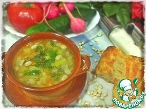 Рецепт Фасолевый суп с курицей