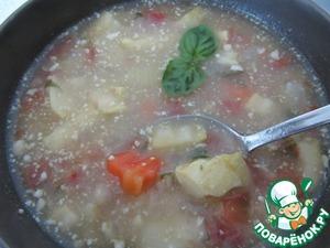 Рецепт Овощной суп с фасолью на мотив минестроне