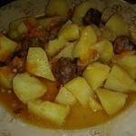 Мясо с картофелем с лимонно-чесночным вкусом