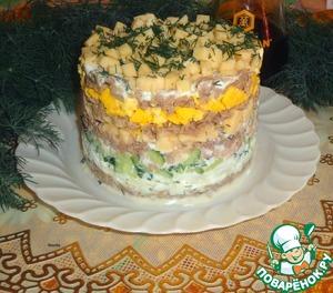 Слоеный салат из утки вкусный пошаговый рецепт с фотографиями