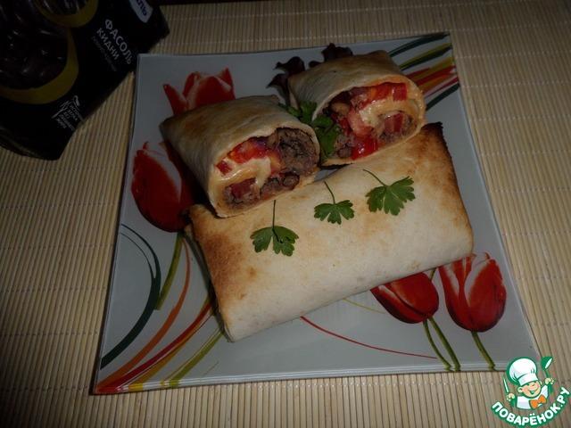 Лепешка с фасолью, мясным фаршем и овощами простой рецепт приготовления с фото как готовить #7