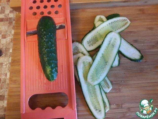 рецепт салата огурцов в растительном масле