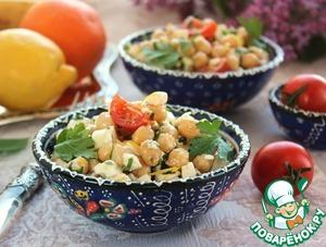 Салат с нутом в испанском стиле вкусный пошаговый рецепт приготовления с фото как готовить