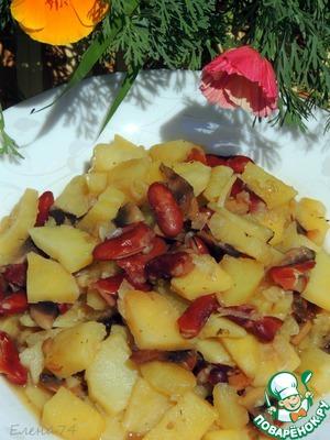 Рецепт Рагу из фасоли с картофелем и грибами