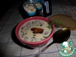 Рецепт Суп с белой фасолью и грибами