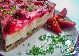 Рецепт Творожно-фруктовый торт