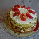 Кабачковый торт с плавлеными сырками