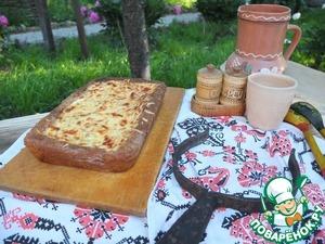 Рецепт Пирог с диким рисом, курицей и баклажанами