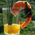 Креветки с апельсиново-горчичным соусом