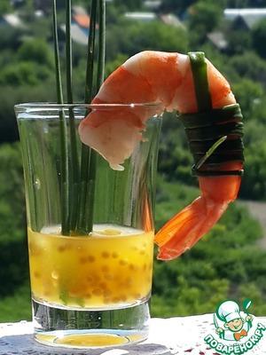 Рецепт Креветки с апельсиново-горчичным соусом