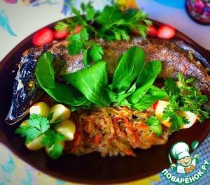 Рецепт Щука, фаршированная овощами