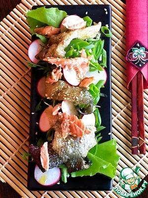 Японский салат с кожей лосося вкусный пошаговый рецепт приготовления с фотографиями готовим