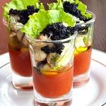 Веррины с мидиями и томатным желе