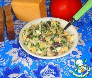 Рецепт Рыбный салат с красной фасолью