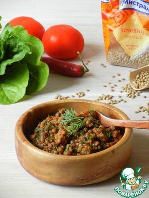 Рецепт Рагу с чечевицей и овощами