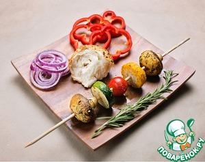 Рецепт Рецепт шашлыка из овощей или замашка на вегетарианскую кухню