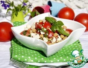 Пикантный салат с нутом и фетой простой пошаговый рецепт с фотографиями как приготовить