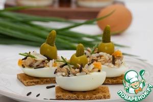 Рецепт Закуска из риса и яиц