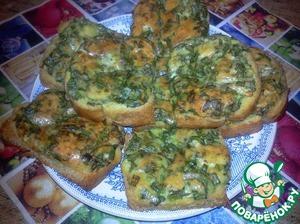 Рецепт Бутерброды с яйцом, сыром и зеленью в духовке