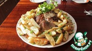 Рецепт Запеченный свиной окорок