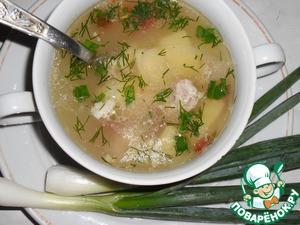 Рецепт Суп на курином бульоне с кукурузной крупой