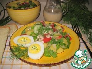Рецепт Картофельный салат с соусом из ряженки