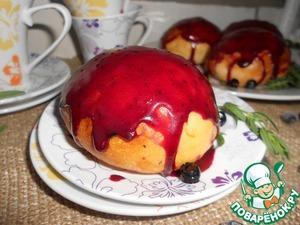 Рецепт Булочки с черничной глазурью