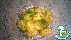 Рецепт Запечённый молодой картофель с горчицей и специями в мультиварке