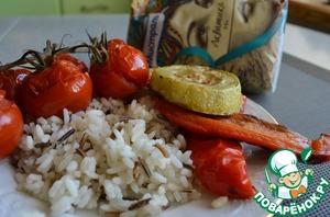 Рецепт Овощи-гриль со смесью пропаренного и дикого риса