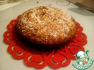 Рецепт Шоколадный пирог на кефире с кокосовой стружкой