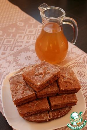 Рецепт Тульский пряник с вареньем из морошки и морсом