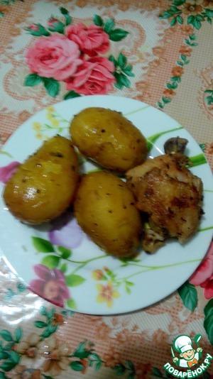 Рецепт Картошка с курочкой в скороварке