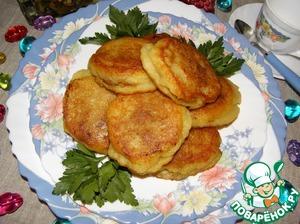 Рецепт Картофельные оладьи с мясным секретом