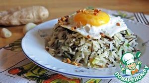 Рецепт Имбирный жареный рис с яйцом
