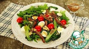 Рецепт Салат с капустой пак-чой и мраморной говядиной