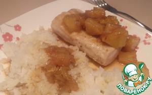 Рецепт Рыба с сальсой из манго