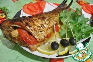 Рецепт Карп запеченный с овощами