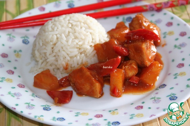 Курица в кисло-сладком соусе рецепт с пошагово