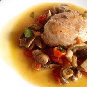 """Рецепт Куриная грудка с грибами и овощами """"Курица Супреме"""""""